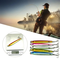 Review 5 Pcs Casting Jig Logam Slice Deep Sea Hook Fishing Lure Spinning Baits 30G 9 2 Cm Intl