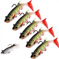 5 Pcs Fishing Lure Swimbait 8.5 CM/13g Laut Bass Pembunuh Memimpin Jig Kepala Lembut