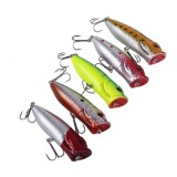 Harga 5 Pcs Lot Topwater Popper Minnow Freshwater Fishing Lures Umpan Tackle 7 Cm Satu Set