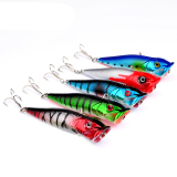 Harga 5Pcs Plastic Popper Fishing Lures Bass Crankbaits Tackle 9 5Cm 3 74 12G Termurah