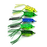 Diskon 5Pcs Soft Plastic Fishing Lures Frog Lure With Hook Top Water 5 5Cm 8G Artificial Fish Tackle