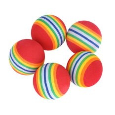 ... 5 Pcs pack Rainbow Stripe Busa Spons Bola Latihan Ayunan Golf Perlengkapan Bantuan Latihan
