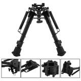 Jual 6 9 Inches Outdoor Aluminium Telescopic Rifle Bipod Adjustable Spring Kembali Dengan 3 Adapter Internasional Oem Asli