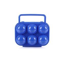 6 Grid Plastik Telur Kontainer Organizer Portabel Penyimpanan Kotak Penahan Pegangan Lipat Kasus Telur untuk Rumah