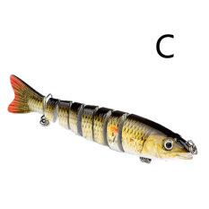 Harga 6 Multi Jointed 8 Segement Pike Fishing Lure Swimbait Crankbait Hard Bait C Oem Ori