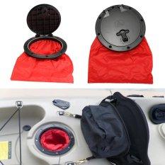 6 Inch Hitam + Merah Marine Hatch Cover Pull Out Plate Dengan Tas Untuk Perahu Kayak Kano-Intl By Freebang.