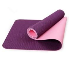 Harga 6Mm Serbaguna Besar Ukuran Kualitas Tinggi Yoga Mat Ungu Intl Baru