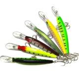 Jual 6 Pc Desain Baru Fishing Tackle 3D Mata Minnow Fishing Bait Intl Ori