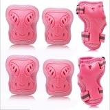 Spesifikasi 6 Pcs Anak Anak Kid Inline Roller Skates Sport Bersepeda Skating Knee Elbow Wrist Protective Gear Pelindung Pads S Pink Intl