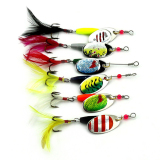 Spek 6Pcs Spoon Metal Fishing Lures Set Spinner Baits Crankbait Bass Tackle Hook Not Specified