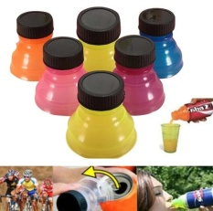 6Pcs Useful Water Bottle Snap Tops On Soda Drink Lid Can Bottle Caps Top - intl