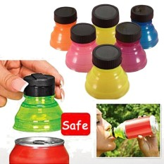 6Pcs Useful Water Bottle Snap Tops On Soda Drink Lid Can Bottle Caps Top Safe - intl