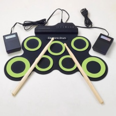 7 Pad USB Portable Silicone Roll Up Foldable Musical Electronic Drum W/ Stick - intl