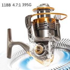 7000 Series 11BB 4.7: 1 Rasio Metal Fishing Reel Air Asin Air Tawar Memancing Alat Pemintal-Intl