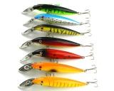 7 Pcs Fishing Lures Minnow Mi048 14 Cm 16 2G 4 Kait Crank Hard Baits Metal Lidah Bodi Plastik Terbaru