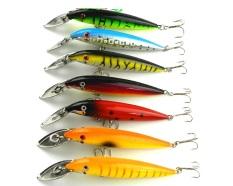 Harga 7 Pcs Fishing Lures Minnow Mi048 14 Cm 16 2G 4 Kait Crank Hard Baits Metal Lidah Bodi Plastik Asli Oem