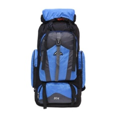 80L Kapasitas Besar Tas Pria Wanita Tahan Air Travel Backpack Luar Berkemah Ransel Climbing Backpack Hiking Backpack Backpack Sport Kembali Backpack -Intl