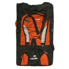 80 Liter Tahan Air Tas Ransel Tas Bagasi For Perjalanan Berkemah Mendaki Kolam Oranye & #