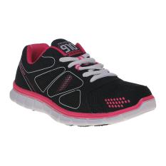 910 Nineten Kaza Sepatu Lari Wanita Hitam Fuschia Putih Terbaru