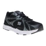910 Nineten Kenjiro 1 5 Sepatu Lari Hitam Abu Abu Perak Terbaru