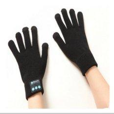 Sepasang Nirkabel Bluetooth Sarung Tangan Di Musim Dingin Kehangatan Panggilan Sarung Tangan Layar Sentuh Knit Black-Intl