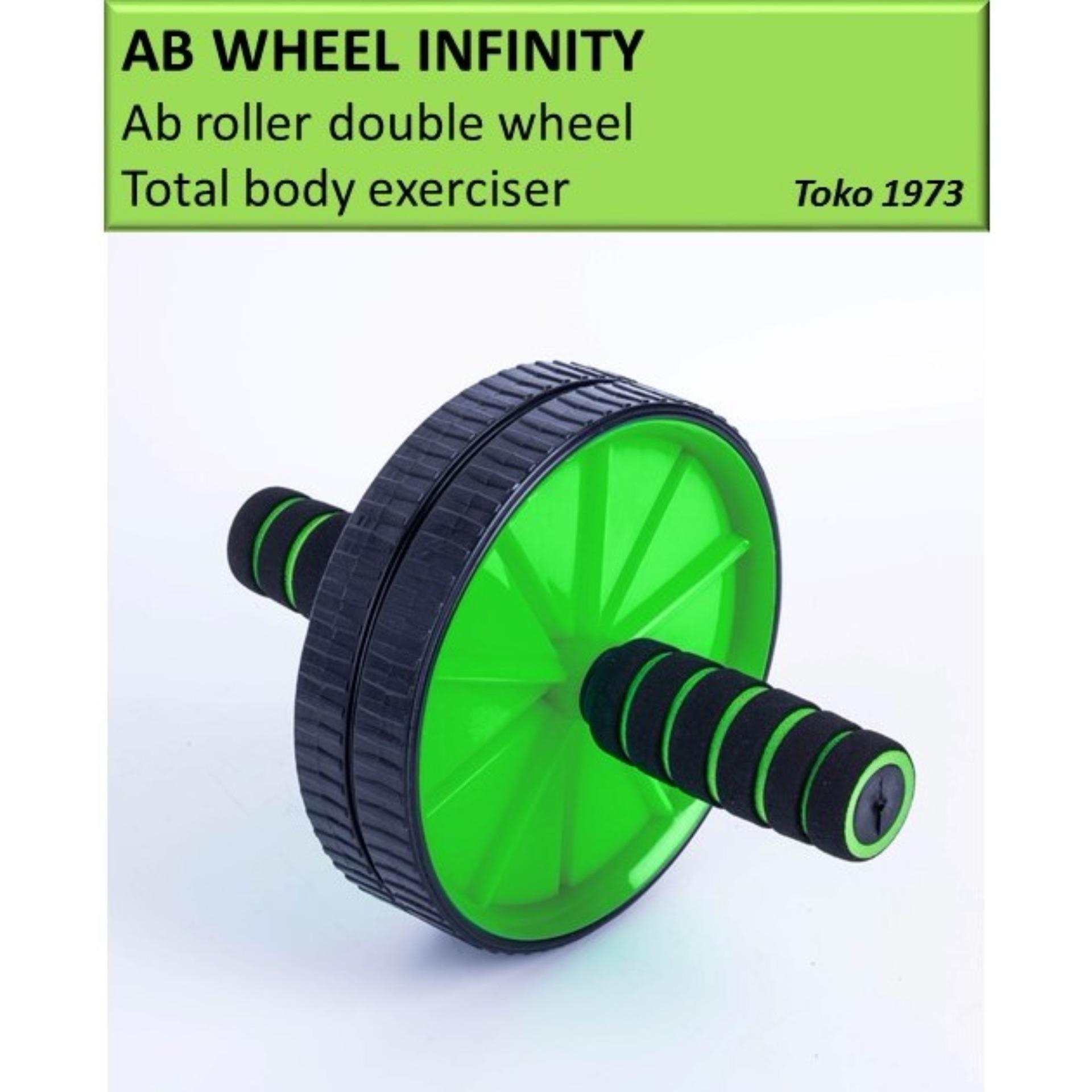 AB WHEEL INFINITY - Ab roller double wheel / Alat sit up / alat gym -