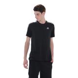 Beli Adidas Essentials 3 Stripes Tee Hitam Baru