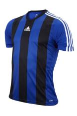 Adidas Kaos Bola Strip Z38467 - Biru-Hitam