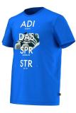 Jual Adidas Kaos Superstar S19181 Size L Biru Dki Jakarta
