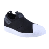 Adidas Originals Superstar Slip On Sneakers Olahraga Pria Core Black Core Black Core Black Indonesia Diskon
