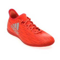Promo Adidas X 16 3 Indoor Shoes Solar Red Metallic Silver Hi Res Red Di Indonesia