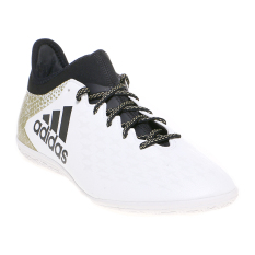 Spesifikasi Adidas X 16 3 Indoor Soccer Shoes Running White Ftw Black Metallic Gold Merk Adidas