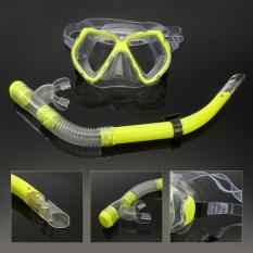 Spesifikasi *d*lt Glass Swimming Swim Diving Scuba Anti Fog Goggles Mask Snorkel Set Intl Merk Not Specified