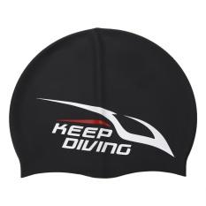 Anak Dewasa Unisex Silikon Elastis Renang Swimwear Mandi Cap Waterproof  Swim Hat (Hitam)- 2859233eff