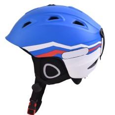 Dewasa Anak-anak Outdoor Sport Kokoh Ski Papan Seluncur Sepeda Skate Helmet Kokoh ABS Shell Helm Warna: Biru Ukuran: XL-Intl