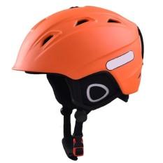 Dewasa Anak-anak Outdoor Sport Kokoh Ski Papan Seluncur Sepeda Skate Helmet Kokoh ABS Shell Helm Warna: Jeruk Ukuran: M-Intl