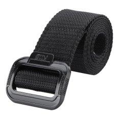Jual *d*lt Nylon Adjustable Survival Tactical Belt Berburu Pinggang Hitam Intl Oem Murah