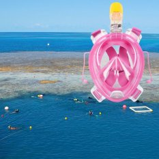 Cara Beli Ah 72 41 Wajah Penuh Masker Snorkeling Untuk Pergi Pro Kamera S M Berwarna Merah Muda