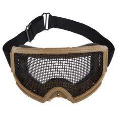 Airsoft Taktis Metal Mesh Mata Perlindungan Goggle Kacamata Kacamata