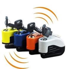Alarm Elektronik Plate Brake Lock Anti-Theft Lock Sepeda Motor Mobil Listrik (Orange)-Intl