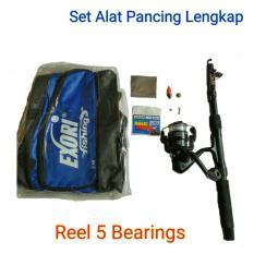 Alat Pancing / 1 Set Pancing Lengkap, Reel 5 Bearings