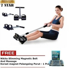 Alat Pembakar Lemak 7STAR Tummy Trimmer Alat Olahraga Fitness + Gratis Nikita Slimming Magnetic Belt And Massage - Korset magnet Pelangsing Perut - 1 Set
