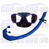 Review Toko Alat Snorkeling Diving Godive Free Dive Mask Snorkel Set M206
