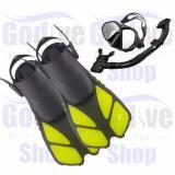 Harga Termurah Alat Snorkeling Godive Paket Mask Snorkel Set M202 Fin Open Heel Fs 18 Ml Xl