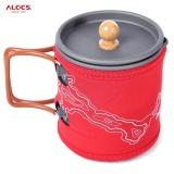 Beli Alocs Cw K13 600Ml Outdoor Car Travel Camping Portable Aluminum Oxide Coffee Pot Kettle Cup Set Intl Kredit Tiongkok