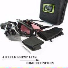 Alpha Matte Black Eyewear Standar Balistik HALO Goggles Militer Pria Luar Ruangan Paintball Airsoft Kacamata Medan Tan Grey Gafas-Intl