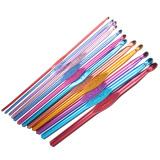 Review Terbaik Aluminium Crochet Hooks Jarum Set 2Mm 8Mm Merajut Jahitan Mh 12 Pcs Multicolor