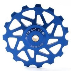 Aluminium 15 T Tertutup Bantalan Derailleur Jockey Roda Guide Pulley untuk MTB Jalan Sepeda Spesifikasi: Biru-Internasional
