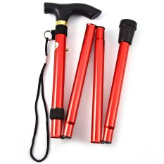 Beli Aluminum Metal Folding Walking Stick With Adjustable Height And Non Slip Rubber Base Dengan Kartu Kredit