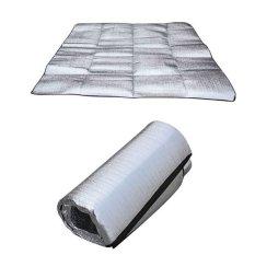 Kualitas Amart Outdoor Aluminum Foil Mats Dampproof Waterproof Picnic Camping Pad Size 200 100Cm Intl Amart